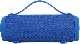 Bluetooth-Barrel-Speaker-Blue on sale