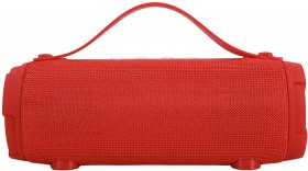 Bluetooth-Barrel-Speaker-Red on sale