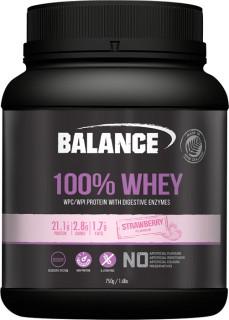 Balance-100-Whey-Protein-Strawberry-750gm on sale