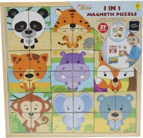 First-Learning-3-in-1-Magnetic-Puzzle on sale