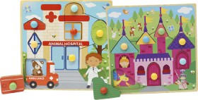 First-Learning-Wooden-Storybook-Puzzle-Assortment on sale