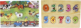 First-Learning-Wooden-Pin-Puzzle-Assortment on sale