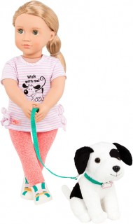 Our-Generation-18-Doll-Trainer-Hazel-with-Pet-Dog on sale