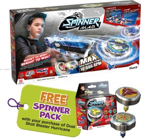 NEW-Silverlit-Spinner-M.A.D.-Dual-Shot-Blaster-Hurricane on sale