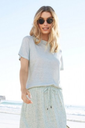 Capture-Linen-Square-Neck-Tee on sale