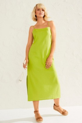 Emerge-Linen-Blend-Slip-Dress on sale
