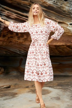 Emerge-Broderie-Square-Neck-Dress on sale