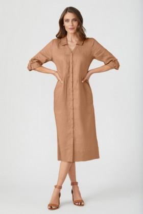 Grace-Hill-Linen-Panelled-Midi-Dress on sale