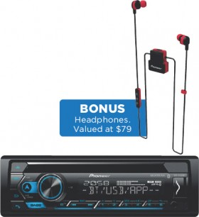 Pioneer-CD-Tuner-iPod-USB-Bluetooth-Head-Unit on sale