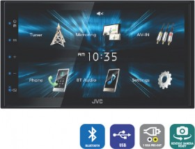 JVC-6.8-AV-Bluetooth-USB-Mirror-Tuner on sale
