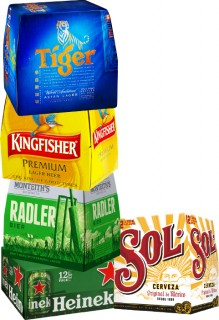 Sol-Mexican-Lager-Tiger-Beer-or-Crystal-Kingfisher-Monteiths-Classics-Range-or-Heineken-12-x-330ml-Cans on sale