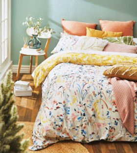 NEW-Kas-Wildflower-Queen-Duvet-Set on sale