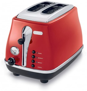 Delonghi-Icona-Red-Toaster on sale