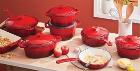 Simon-Gault-Red-Enamel-Cast-Iron-Cookware on sale