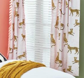Kids-Workshop-Slotherly-Cheetahs-Pencil-Pleat-Curtains on sale