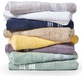 Hilton-Stripe-Bath-Towels on sale