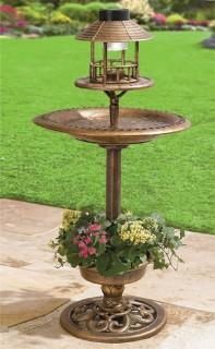 Solar-Bird-Bath-Planter on sale
