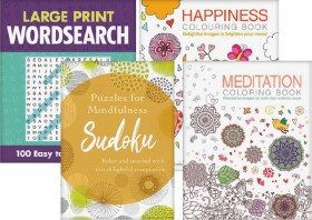 Adult-Colouring-Puzzle-Books on sale