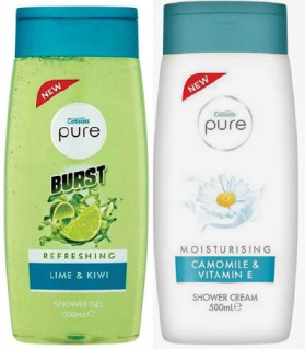 Cussons-Pure-Shower-Cream-500ml on sale