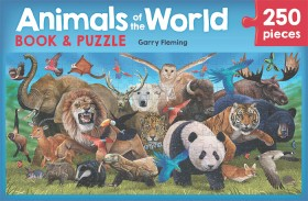 Animals-of-the-World-Book-Jigsaw-Puzzle-Set on sale