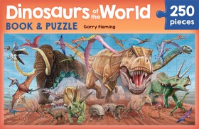 Dinosaurs-of-the-World-Book-Jigsaw-Puzzle-Set on sale
