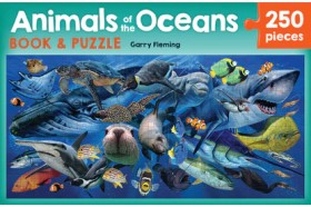 Animals-of-the-Oceans-Book-Jigsaw-Puzzle-Set on sale