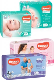 Huggies-Bulk-Pack-Nappies-30-54-Pack-or-Ultra-Dry-Nappy-Pants-28-34-Pack on sale