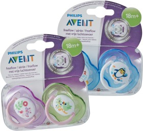 Avent-Soothers-18-Months on sale