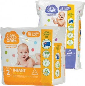 NEW-Little-Ones-Convenience-Nappies-13-18-Pack on sale