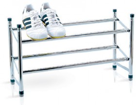 Maddison-House-Chrome-Shoe-Rack on sale