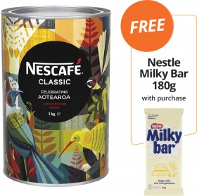 NESCAF-Classic-Instant-Coffee-FREE-NESTLE-MILKY-BAR-180G-WITH-PURCHASE on sale