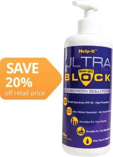 Help-It-Ultra-Block-SunScreen-SFP50-500ml on sale