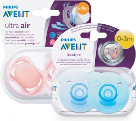 Avent-Soothers-2-Pack-Range on sale