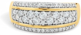 NEW-Ring-with-0.70-Carat-of-Diamonds-in-10ct-Yellow-Gold on sale