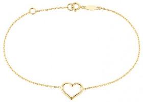 19cm-7.5-Heart-Bracelet-in-10ct-Yellow-Gold on sale