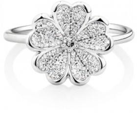 NEW-Ring-with-0.25-Carat-in-Sterling-Silver on sale