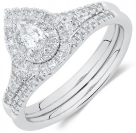 Evermore-Bridal-Set-with-0.60-Carat-TW-of-Diamonds-in-10ct-White-Gold on sale