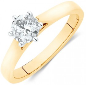Solitaire-Engagement-Ring-with-a-0.70-Carat-TW-Diamond-in-14ct-Yellow-White-Gold on sale