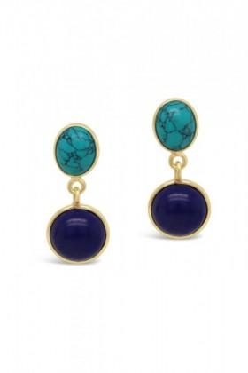 Fairfax-Roberts-Gemstone-Double-Drop-Earrings on sale