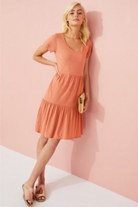 Emerge-Organic-Cotton-Tiered-Dress on sale