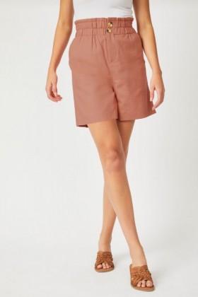 Emerge-Linen-Blend-Button-Short on sale