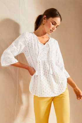 Emerge-Broderie-Tie-Front-Top on sale