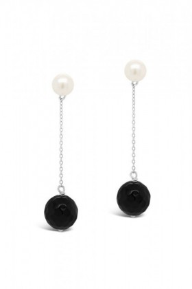 By-Fairfax-Roberts-Baroque-Pearl-and-Onyx-Drop-Earrings on sale