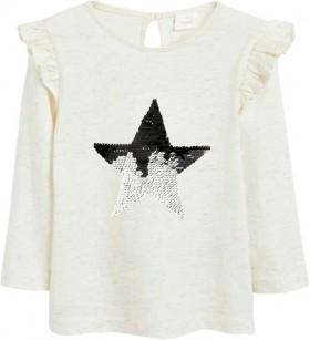 Next-Ecru-Long-Sleeve-Sequin-Star-Top on sale