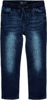Next-Dark-Blue-Regular-Fit-Jersey-Denim-Pull-on-Jeans on sale