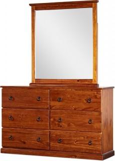 Pinehurst-6-Drawer-Dresser-with-Mirror on sale