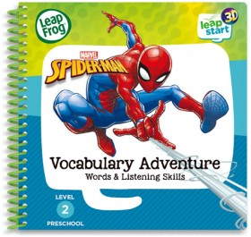 LeapFrog-Leapstart-Marvel-Spiderman-Vocabulary-Adventure-3D-Activity-Book on sale