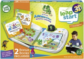 LeapFrog-Leapstart-3D-Interactive-System-Green-with-2-Books-Bundle on sale