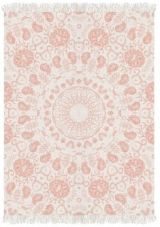 NEW-Ombre-Home-Wildflower-Printed-Cotton-Rug-133-x-180cm on sale