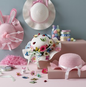 25-off-Happy-Easter-Paper-Bonnets-17cm on sale